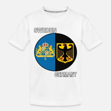 Sweden sweden germany crest text - Toddler Organic T-Shirt