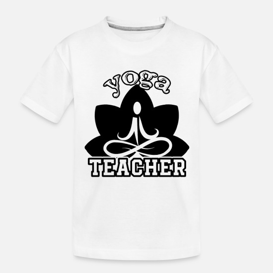 Teacher Baby Clothing - Funny Yoga Teacher Shirt - Toddler Organic T-Shirt white