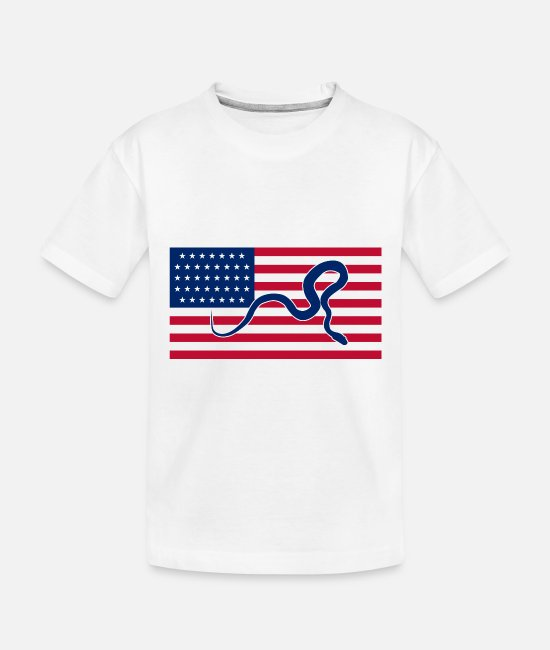 Reptiles Baby T-Shirts - Snake on the flag - Toddler Organic T-Shirt white
