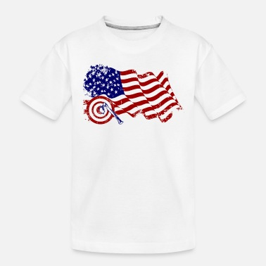 Ale Axe Throwing USA Axe Flag Vinatage American Hatche - Toddler Organic T-Shirt