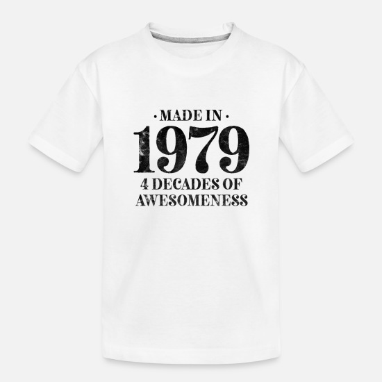 Birthday Baby Clothing - born 1979 classic men women - Toddler Organic T-Shirt white