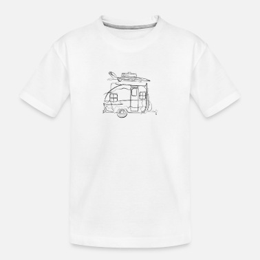 Creative Caravan Travel - One Line Drawing - Toddler Organic T-Shirt