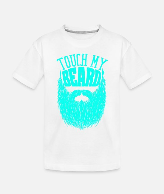 Hipster Baby T-Shirts - Beard Man Trend - Toddler Organic T-Shirt white