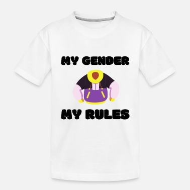 My Gender My Rules | LGBTQI+ | QUEER | ALLY - Toddler Organic T-Shirt