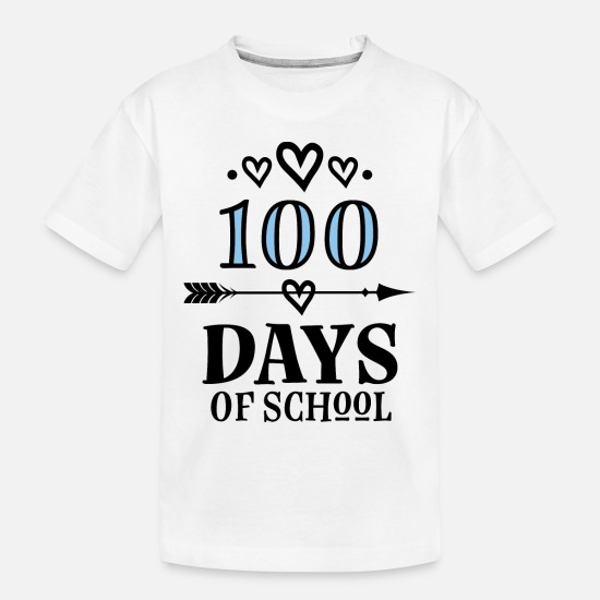 School Baby Clothing - 100 Days Of School Celebration Party - Toddler Organic T-Shirt white