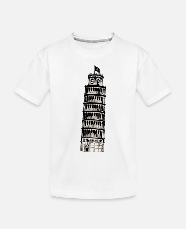 Set Baby T-Shirts - leaning tower of pisa - Toddler Organic T-Shirt white