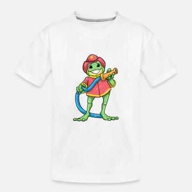 Fire Frog as firefighter with hose - Toddler Organic T-Shirt