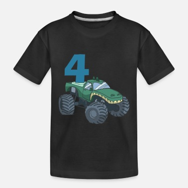Monster Truck children's 4th birthday - Toddler Organic T-Shirt