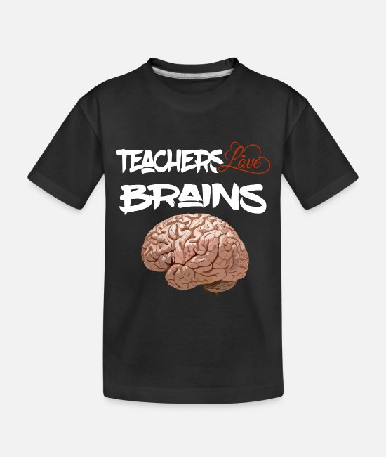 Brain Baby T-Shirts - Teacher Professor Prof Brain IQ smart clever cleve - Toddler Organic T-Shirt black