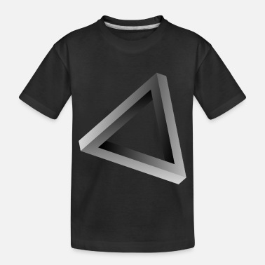 Impossible triangle visual optical illusion - Toddler Organic T-Shirt