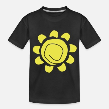 Shape Sun flower - Toddler Organic T-Shirt