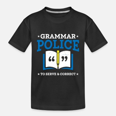 Grammar Police Funny Sarcasm English Teacher Costu - Toddler Organic T-Shirt