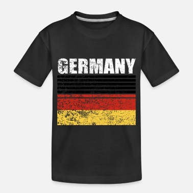 Schland Germany Flag black red gold - Toddler Organic T-Shirt