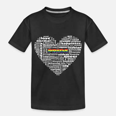 Gay Pride Gay Pride Word Cloud - Toddler Organic T-Shirt