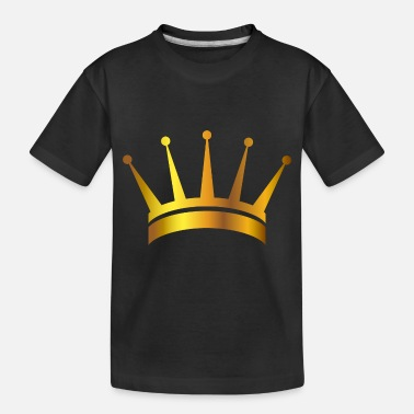 King prince gold VIP crown lable vector image cool - Toddler Organic T-Shirt