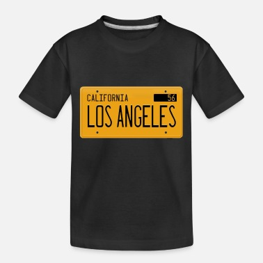 Los Angeles California 1956 yellow license plate - Toddler Organic T-Shirt