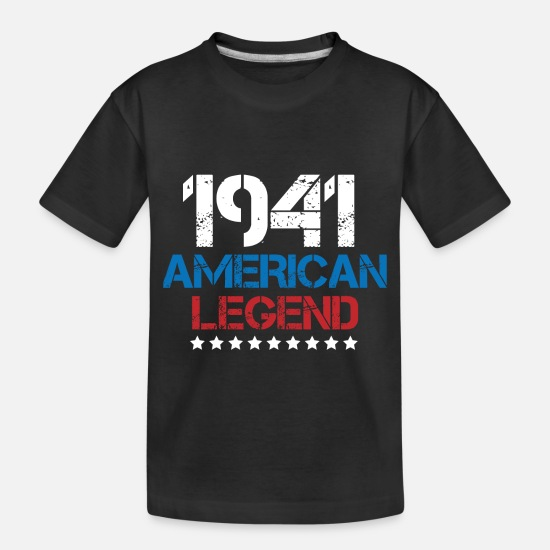Retro Baby Clothing - 1941 American Legend Vintage - Toddler Organic T-Shirt black