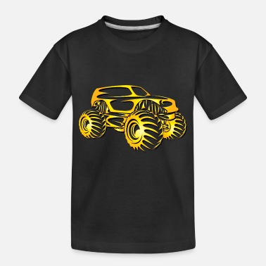 Monster Monster Truck Cutout - Toddler Organic T-Shirt