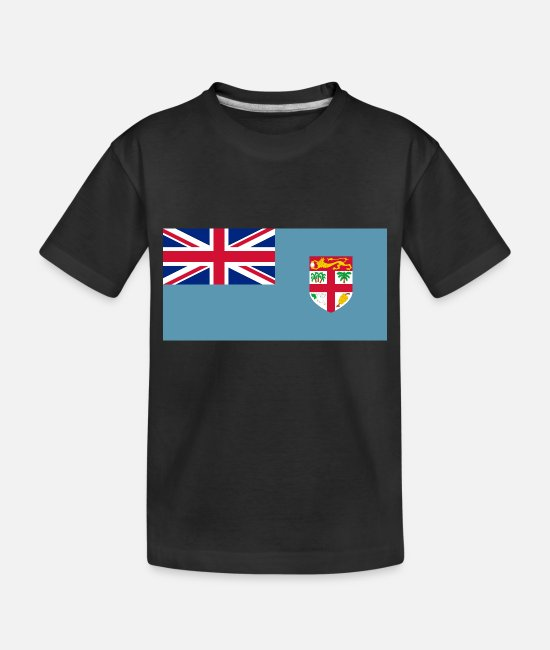 Fiji Baby T-Shirts - Fiji country flag love my land patriot - Toddler Organic T-Shirt black