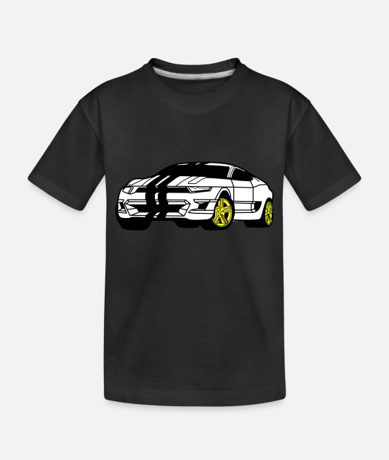 Race Car Baby Clothing - Camaro - Toddler Organic T-Shirt black