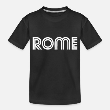 Pizza typo rome 2 - Toddler Organic T-Shirt