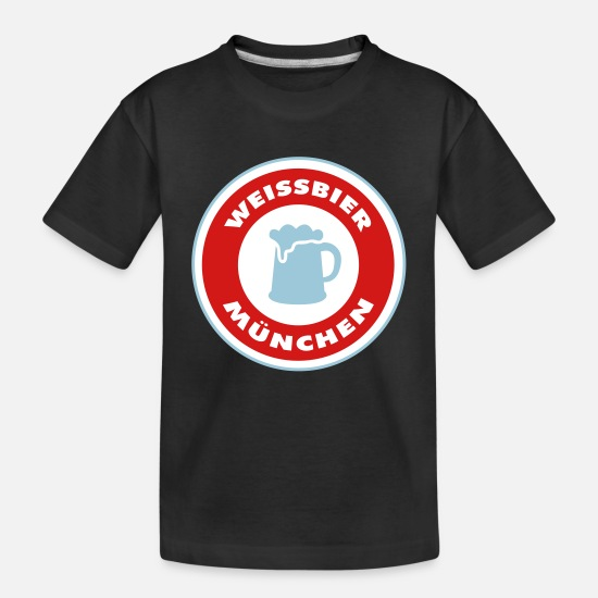 German Baby Clothing - Weissbier Munich - Toddler Organic T-Shirt black