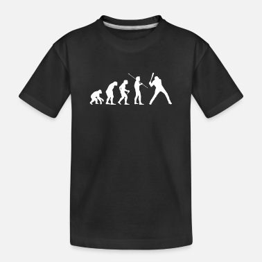 Evolution Baseball Team Baseball Player Evolution - Toddler Organic T-Shirt