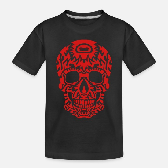 Head Coach Baby Clothing - tribal skull dead head death in 1305 - Toddler Organic T-Shirt black