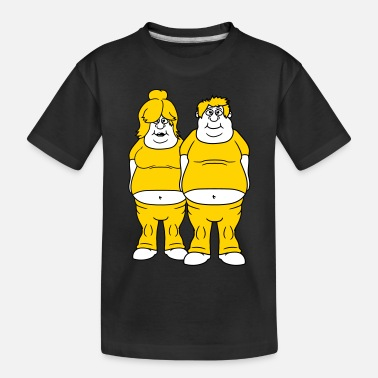 Fat man couple couple love in love woman girl sexy hot - Toddler Organic T-Shirt