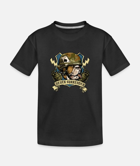 English Baby T-Shirts - Military Bulldog - Toddler Organic T-Shirt black