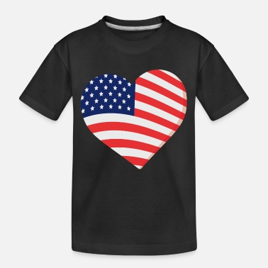 Celebrate Heart in Stars and Stripes Gift - Toddler Organic T-Shirt