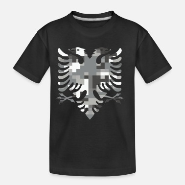 Albanian Germany Flag Albanian Double Headed White Camo Flag - Toddler Organic T-Shirt