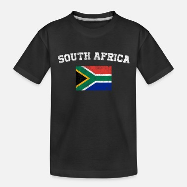 South Africa South African Flag Shirt - Vintage South Africa - Toddler Organic T-Shirt