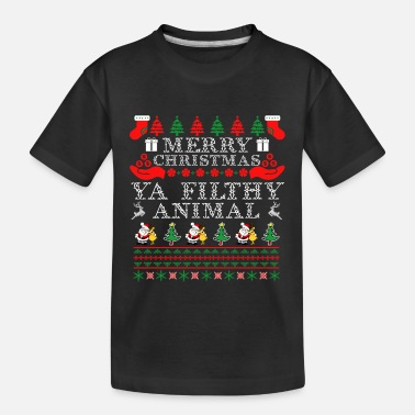 Merry Merry Christmas Filthy Animal - Toddler Organic T-Shirt