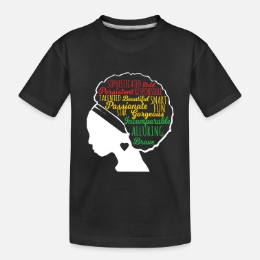 Natural Black Beautiful Is In My DNA, Natural Afro Pride - Toddler Organic T-Shirt