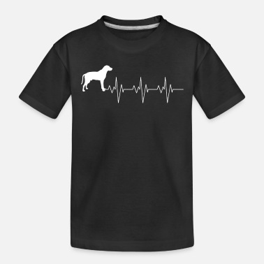 Mouth Black Mouth Cur Dog Heart Beat Gift Shirt - Toddler Organic T-Shirt