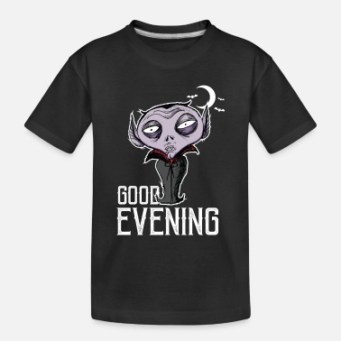 Good Evening Halloween - Good Evening Dracula - Toddler Organic T-Shirt