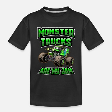 Monster Monster Trucks Are My Jam - Toddler Organic T-Shirt