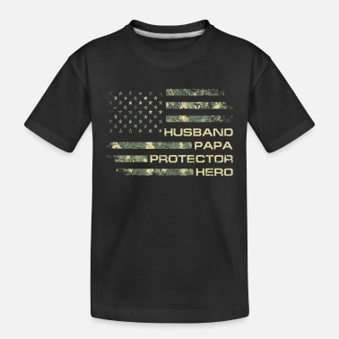 Daddy Husband Papa Protector Hero Fathers Day Camouflage - Toddler Organic T-Shirt
