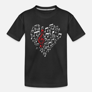 Sheet Music Heart - Toddler Organic T-Shirt