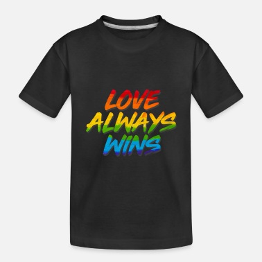 Equalizer LGBT Love Wins - Toddler Organic T-Shirt