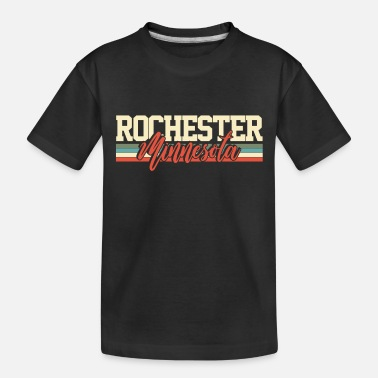 City-state Rochester Minnesota City State Souvenir Retro - Toddler Organic T-Shirt