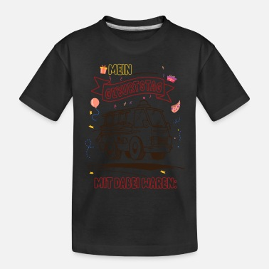 Fire engine children's birthday boy coloring - Toddler Organic T-Shirt