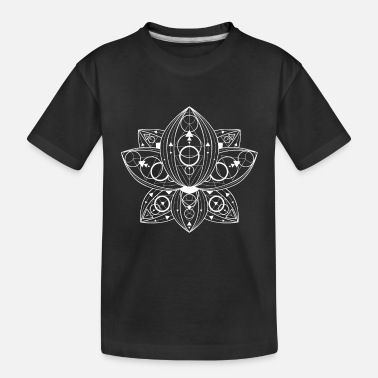 Lotus Flower Geometric Ornament Lineart - Lotus - Toddler Organic T-Shirt