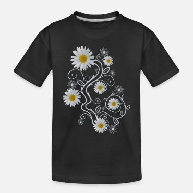 daisy flowers white daisies bloom floral ornaments - Toddler Organic T-Shirt