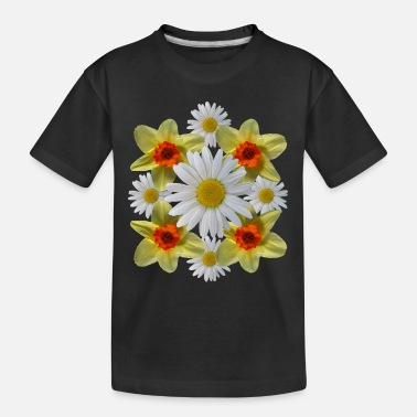 daisies floral bloom daisy spring daffodil florets - Toddler Organic T-Shirt