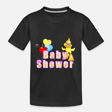 Baby Shower Baby Shower Baby Shower Duck with balloons - Toddler Organic T-Shirt