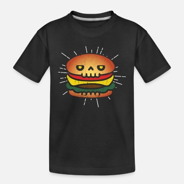 Burger Burger Skull Hamburger T Shirt Gift - Toddler Organic T-Shirt