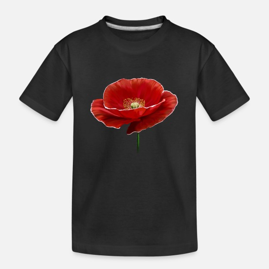 Papaver Baby Clothing - Poppy - Toddler Organic T-Shirt black