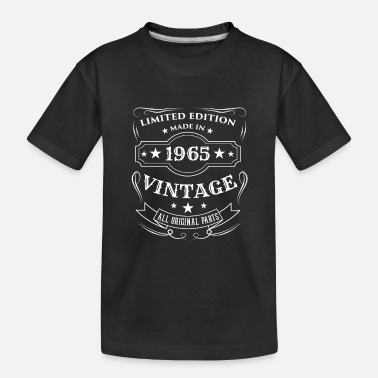 Since Limited Edition Made In 1965 Vintage Birthday Gift - Toddler Organic T-Shirt